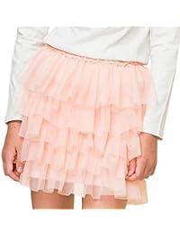 Petit Alo Falda tul rosa con volantes