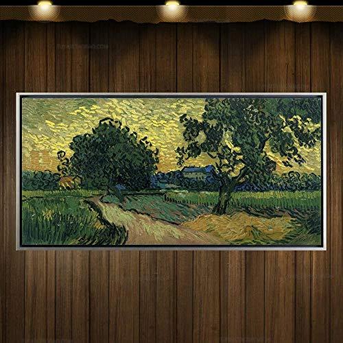 ZXCVB Ölgemälde100% handmade copy landscape canvas,60X120CM