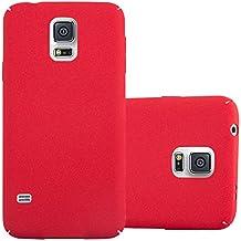 Cadorabo – Hard Cover Protección para Samsung Galaxy S5 en Diseño 'Frosty' de Estilo Escarcha – Case Cover Funda Protectora Carcasa Dura Hard Case en FROSTY-ROJO