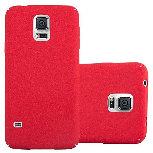 Cadorabo Custodia per Samsung Galaxy S5 / S5 Neo in Frosty Rosso - Rigida Cover Protettiva Sottile con Bordo Protezione - Back Hard Case Ultra Slim Bumper Antiurto Guscio Plastica