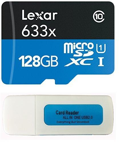 Lexar microsdxc 633x per gopro hero 6hero6nero 4k action camera uhs-i micro memory card w/sd adapter and everything but stromboli combo reader bianco class 10 128gb micro 128gb