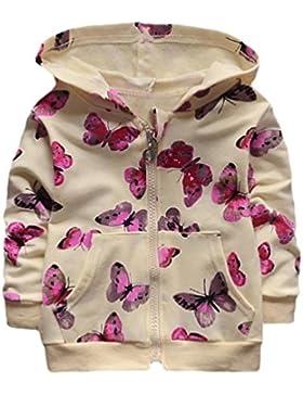 Mantel Mädchen Kolylong® 1 PC (0-24 Monate) Baby Mädchen Schmetterling Drucken Hoodies Mantel Herbst Jacke Mädchen...