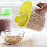 Absales (Set Of 5) 1.9 L Plastic Food Grain Candy Storage Box Containers Plastic Kitchen Food Cereal Storage Dispenser Rice Container