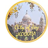 Toshakhana 1309 Button Pin Badge Cum Fridge Magnet City Of Joy Kolkata India Souvenir