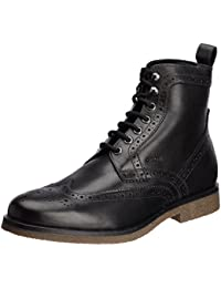 Geox Men's Black Leather Boots - 7 UK