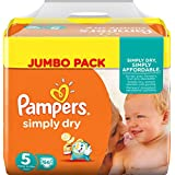 PAMPERS Simply Dry Taille 5 (Junior) 11 a 25 kg couches Jumbo Pack x66 changes