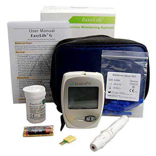Blut Glukose Monitor glycometer ~ Easy Life Blood Glucose Monitoring System für UK Diabetiker