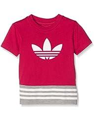 adidas I Fl Tee - Camiseta para niños de 3-4 años, color rosa