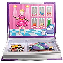 Magnetic Libro Dress-Up 52pcs Puzzle Gioco giocattolo apprendimento di viaggio per i bambini i bambini da Wishtime