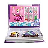 Wishtime Magnetic Libro Dress-Up 52pcs Puzzle Gioco giocattolo apprendimento di viaggio per i bambini i bambini