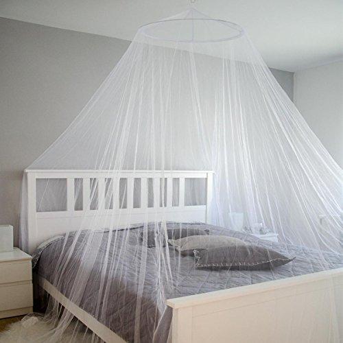 Amanka zanzariera 12m per baldacchino letto matrimoniale culla rete protezione zanzare mosche insetti 180 maglie per 6,45cm² + sacchetto per trasporto