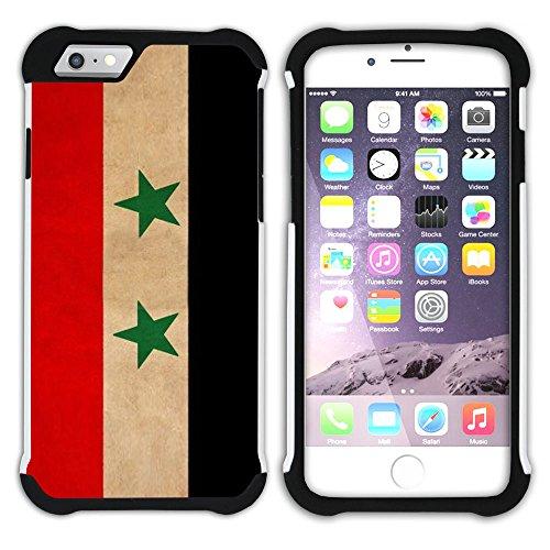 Graphic4You Vintage Uralt Flagge Von Afghanistan Afghane Design Hart + Weiche Kratzfeste Hülle Case Schale Tasche Schutzhülle für Apple iPhone 6 / 6S Syrien Syrer
