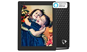 NIXPLAY Seed Digital Photo Frame WiFi 10 inch W10A. Show Pictures on Your Frame Via Mobile App or Email. Smart Electronic Frame with Motion Sensor. Remote Control Included