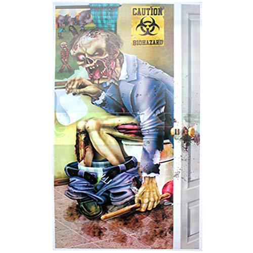 om Door Cover Dekorationen Halloween Party Horror Creepy Scary Poster-1 ()
