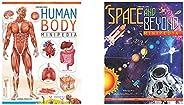 Human Body Minipedia + Space And Beyond Minipedia (Set of 2 Books)