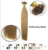 MENRY&Wig 1pc / lot 20inch / 50cm multicolores fusion droite / u Astuce extension de cheveux cheveu humain tisse 0,5 g / l , c...