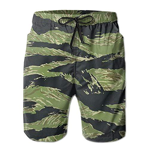 Animal Tiger Stripe Men Shorts Elastic Fashion Not Shrink Beach Shorts Men Shorts -