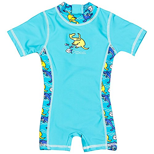 Landora-Baby-Kleinkinder-Badebekleidung-Einteiler-mit-UV-Schutz-50-und-Oeko-Tex-100-Zertifizierung-in-blau-oder-trkis