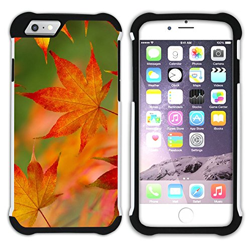 Graphic4You Herbst Leaves Bäume Postkarte Hart + Weiche Kratzfeste Hülle Case Schale Tasche Schutzhülle für Apple iPhone 6 Plus / 6S Plus Design #13