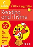 Reading and Rhyme: Age 3-5 (Collins Easy Learning Age 3-5)