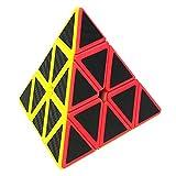 LSMY Speed Cube Pyraminx 3x3, Puzzle Magico Cubo Carbon Fiber Sticker Giocattolo