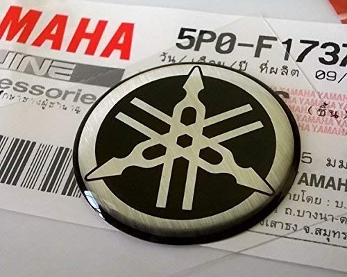 100% GENUINE 25mm Diámetro YAMAHA PUESTA A PUNTO HORQUILLA Pegatina Emblema Adhesivo...
