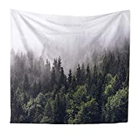 QEES Forest Tapestry Mystical Wall Hanging Blanket Bedspread Soft Shawl Bedroom Decor Beach Towel Table Runner for Home Decorations GT14 (Pattern 4-S)