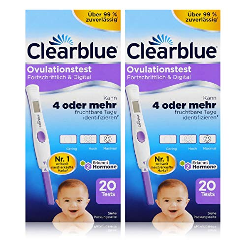 Clearblue Ovulationstest Fortschrittlich & Digital - 20 Tests (2er Pack)