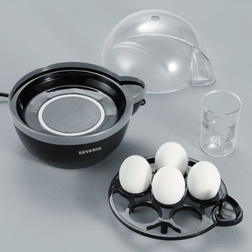 516TtZU5hjL. SS500  - Severin Egg Boiler with 400 W of Power EK 3056, Plastic, Black-Grey