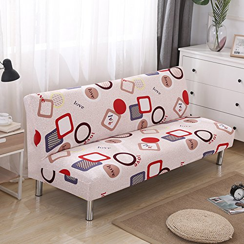 Lovehouse surefit fodera per divano letto,copertura di elasticità coperchio poliestere stampato antimacchia fodera per divano copridivano copertine protettore per 2,3,4 seduta divano salotto-c 75-87in