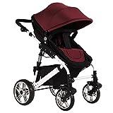 Vanker Sitzauflage, für Kinderwagen, Zubehör fürs Autos, Autositz, gepolstert, für Babys, stoßdämpfendes Kissen,Rotwein-Farbe