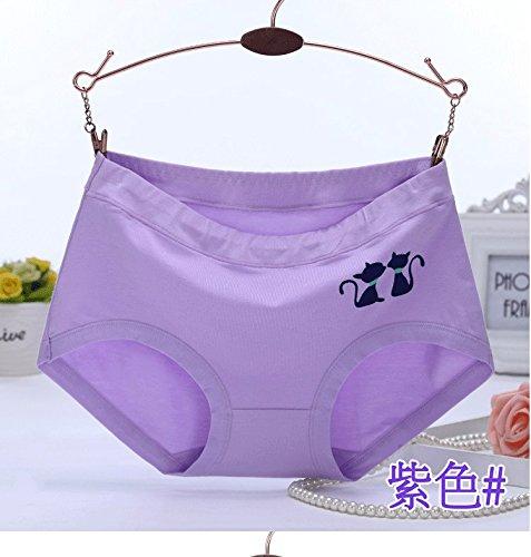 Unterhosen Unterwäsche Bambusfaser Slip bequem Atmungsaktiv Girl Triangle Hose 1 Stk, Orange, L (85-125) Greatlpk Purple C