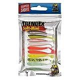 10 Mini Gummifische Kunstköder Jig Drop Shot Köder Forelle , länge:5cm;Behr farben:multicolor