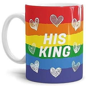 Tassendruck Pärchen-Tasse für Ihn His King Geschenk/Partner / Liebe/Love / Beziehung/Paare Qualität - 25 Jahre Erfahrung