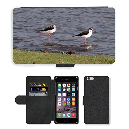 """hello-mobile PU LEDER LEATHER FLIP CASE COVER HÜLLE ETUI TASCHE SCHALE // M00137338 Stelzenläufer Gemeinsamen Stelzenläufer // Apple iPhone 6 4.7"""""""