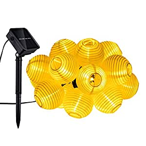 Mpow 20er solar led lichterkette lampion innen und for Lichterkette fa r innen