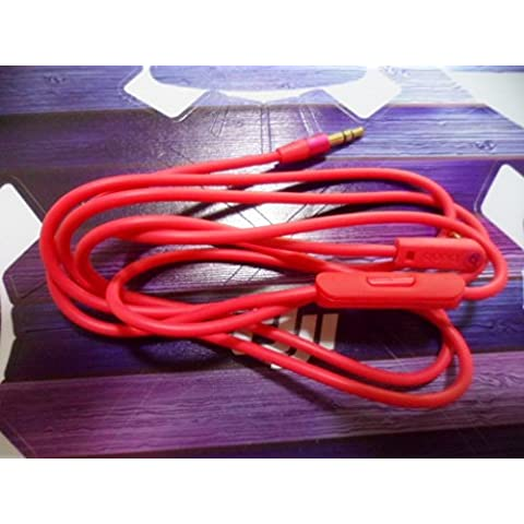 Junsi Hot Pink Headphones Auriculares Cable for Beats by Dr.Dre PRO/DNA/Solo/Solo HD/MIXR/Studio