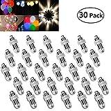 Vanble 30 LED-Ballons Lichter wasserdicht Beleuchtung für Papierlaternen Ballons Blumendekoration, Nicht-blinkend, wasserfeste, Warm-weiß