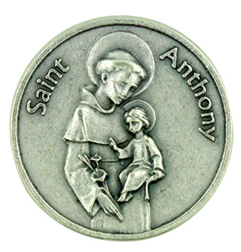 Saint of Miracles Help and Lost Articles Saint Anthony Pocket Token with Prayer by Lumen Mundi -