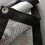 YUN-X Tarpaulin Sunscreen Shade Net Tarp 99% Isolamento Riflettente Foglio di Alluminio Patio all'aperto Balcone Tetto Telo di Copertura di Windowsill, 120 g/m² (Dimensioni : 4x8M)