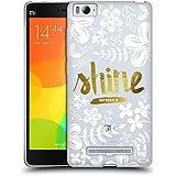 Head Case Designs Shine Floral Verses 2 Soft Gel Case for Xiaomi Mi 4c / Mi 4i