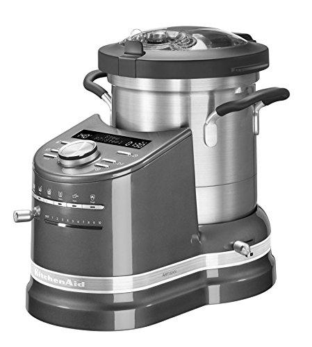 KitchenAid Cook Processor Artisan Küchenmaschine Leistung 1500Watt Volumen 4.5Liter 5kcf0103ems Farbe Silber Medaille