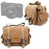 Sac en toile couleur sable pour Nikon DL 18-50, DL 24-85 et DL 24-500, Fujifilm X-Pro2 appareils photo compacts experts et leurs accessoires - compartiments modulables