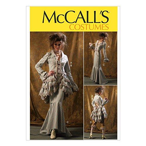 McCall Pattern Company McCalls MC 6770 D5 (12-14-16-18-20) Schnittmuster zum Nähen, Elegant, Extravagant, Modisch Bustle Skirt Pattern