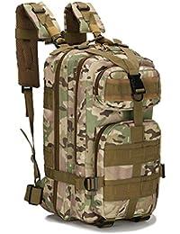 Vovotrade Unisex Hombre Mujer Táctico militar al aire libre de deporte camuflaje viaje de hombro bolsa 3P mochilas cámping senderismo Nylon Oxford 35L