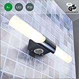 LED-Bad-Wand-leuchte / 2-flammig / Wand-lampe / Wand-leuchte / Wand-strahler / Decken-Wand-lampe / Decken-Wand-leuchte / Decken-Wand-strahler / Spiegel-leuchte / Spiegel-lampe / Spiegel-strahler / Steckdose / weiss / chrom