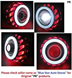 PR Projector Lamp (Red and White Cut Design) High Beam, Low Beam, Flasher Light, White Light Led headlight Lens projector For Hero Splendor PRO 1 Pcs best price on Amazon @ Rs. 2499