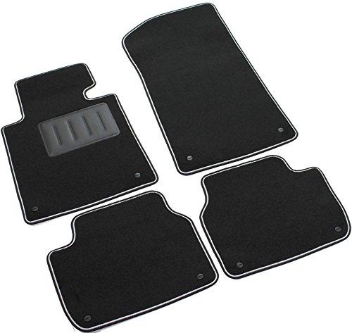 Il Tappeto Auto - Alfombrillas de moqueta para coche, color negro, antideslizantes, borde bicolor, talonera reforzada con caucho, para Serie 3 E46 1998 > 2005, cód. SPRINT00303