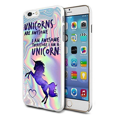 N4U Online Awesome Rainbow Unicorn Phone Case Clip Cover Skin For Apple  Iphone 6/6S