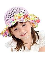 Leisial Sombrero de Pescado Algodón Respirable Sombrero de Ala Gorras Sol Paja Playa Protector Solar Verano para Niños Niñas Beige